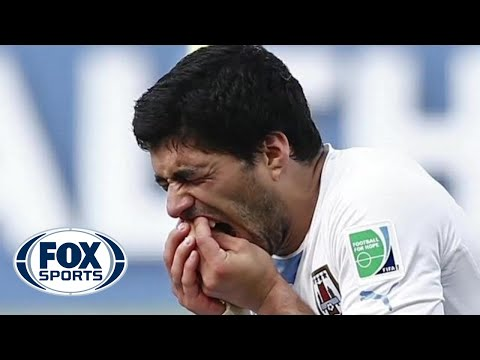 Luis Suarez bites again! How long should he be suspended?