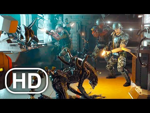 Aliens Destroy Entire Ship With Soldiers Scene 4K ULTRA HD