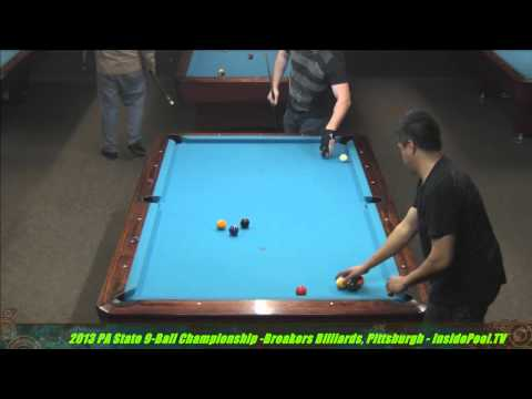 2013 PA State 9Ball Abel Ferrer Vs. Mike Davis at Breakers Billiards , PA