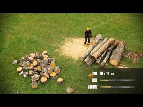 Cutting 6.5 m3 of firewood in one go with a McCulloch chainsaw