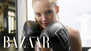 The Boxing Workout Victoria's Secret Angels Love | Harper's BAZAAR