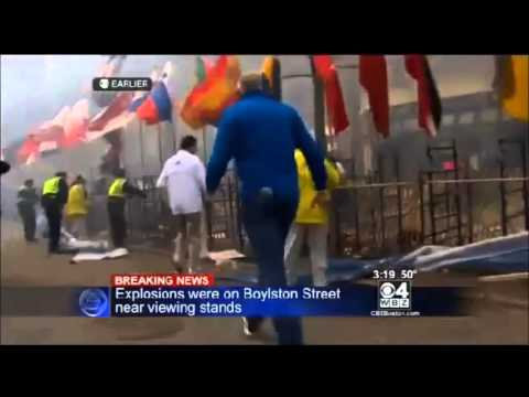 2013 Boston Marathon Explosion News Footage