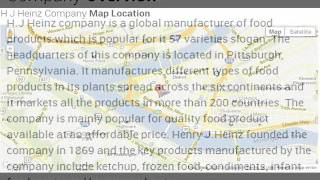 H J Heinz Company Corporate Office Contact Information
