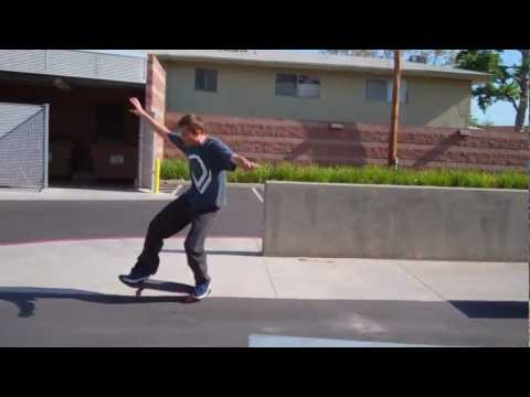 Nose manual drop down to manual kickflip out - Doug Des Autels - Clip of the day