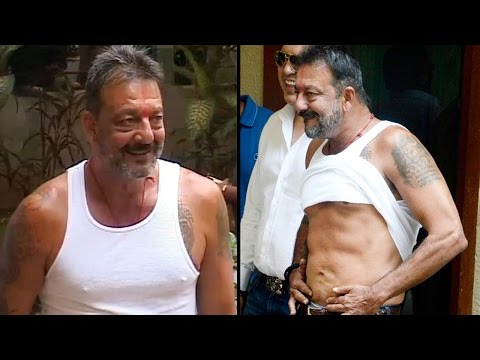 Sanjay Dutt Out From Jail On Parole With 8 Pack Abs