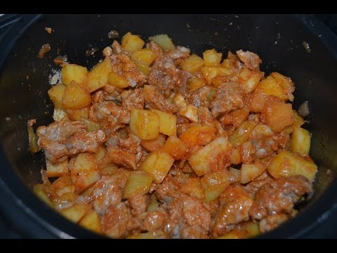 как приготовить свинину с картошкой в мультиварке сочно и вкусно