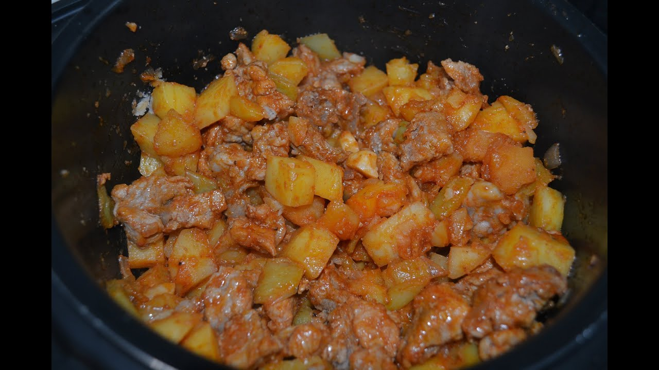 Жаркое из говядины в мультиварке - пошаговый рецепт 232