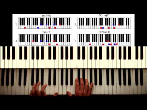 How to play: Get Lucky - Daft Punk. Original Piano lesson. Tutorial...