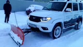 Уборка снега на Уаз Патриот
