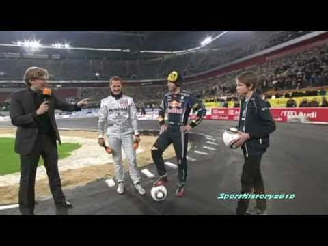 Sebastian Vettel & Michael Schumacher @ Torwandschießen 2010