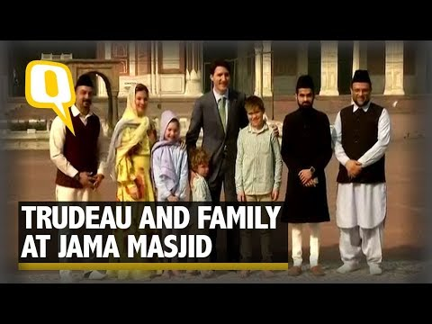 Canadian PM Justin Trudeau at Jama Masjid in the Capital