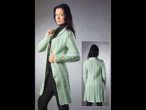 Вязание пальто спицами ютуб 78