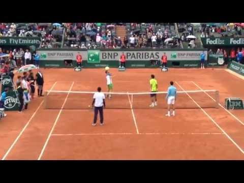 Djokovic, Monfils, Llodra et Lokoli à Roland Garros 2014