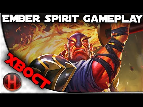 Na'Vi.XBOCT Ember Spirit Gameplay Dota 2