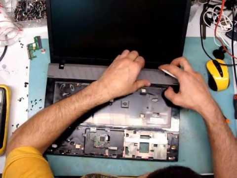 Разборка ноутбука HP Compaq