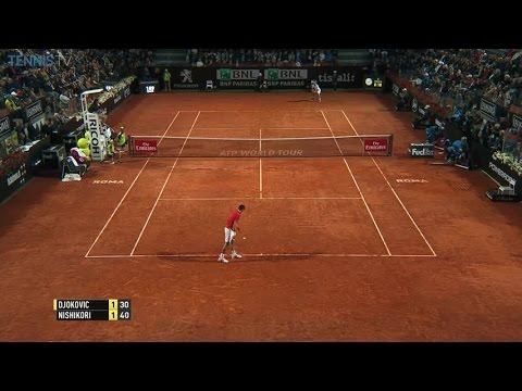Sweet Nishikori dropshot vs. Djokovic Rome 2016 SF