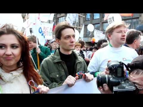 Acțiune pro drepturi lgbt pe 1 mai la St. Petersburg