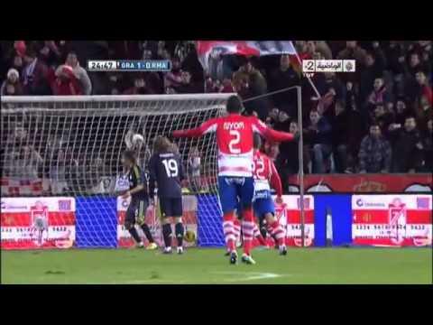 Granada vs Real_Madrid Ronaldo scores at his own team 2013