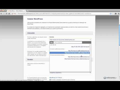 Curso Wordpress: 1 - Instalación