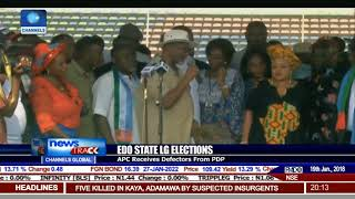 Edo State LG Elections: APC Receives Defectors From PDP