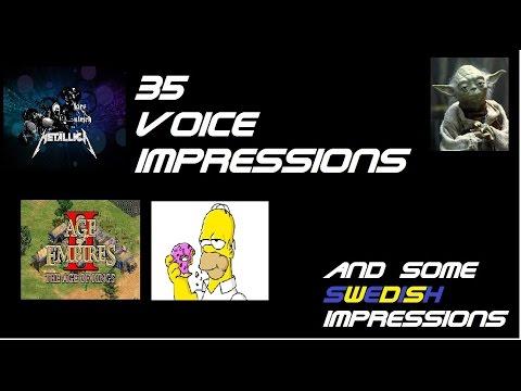 35 voice impressions