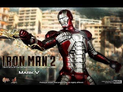 Iron Man 2 Hot Toys Mark V Iron Man Movie Masterpiece 1/6 Scale Collectible Figure Review