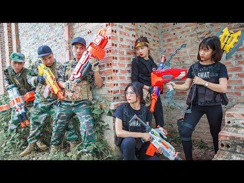LTT Nerf War : SQUAD SEAL X Warriors Nerf Guns Fight Attack Criminals Group Rescue Best Friend