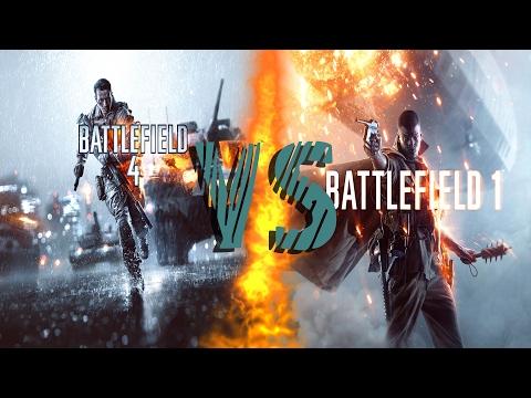 Сравнение Battlefield 4 и Battlefield 1