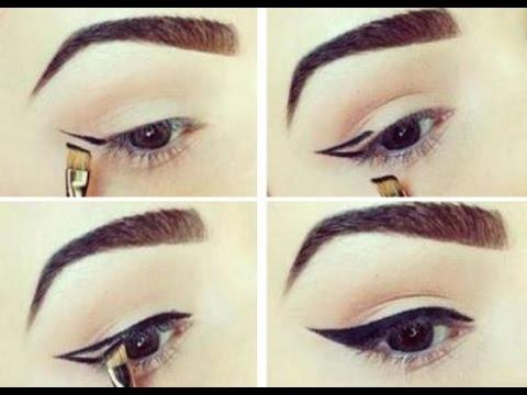 Как научиться рисовать стрелки карандашом для глаз пошагово