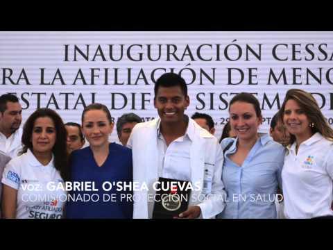 Gabriel O'Shea en Izúcar de Matamoros - Entrega de Medallas