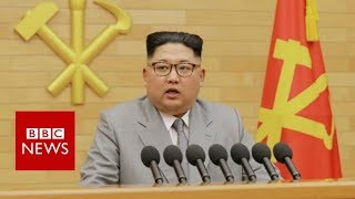 Trump to Kim: My nuclear button is 'bigger and more powerful' - BBC News
