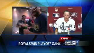 Kansas City Royals Manager Ned Yost postgame news conference