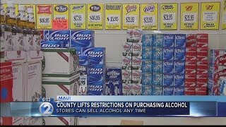 Maui County first in Hawaii to allow 24/7 liquor sales in stores, hotels
