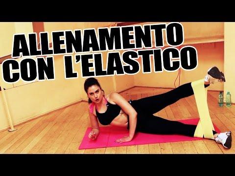 Allenamento con Elastico - Esercizi per gambe. braccia per tonificare e dimagrire - Lezione Completa