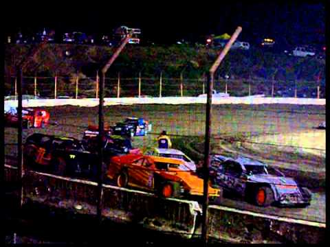 IMCA Modified Running During Red Flag Barona Speedway 5-11-2013