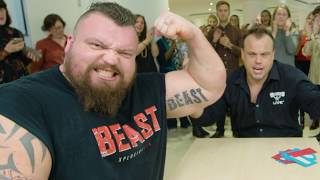 Arm Wrestle Interview with Worlds Strongest Man Eddie 'The Beast' Hall