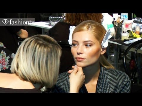 Blumarine Models Backstage - Milan Fashion Week Spring 2012 MFW | FashionTV - FTV