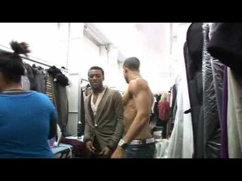 X Factor 2008 JLS MARVIN ASTON FIT ABS SEMI NAKED Backstage Video