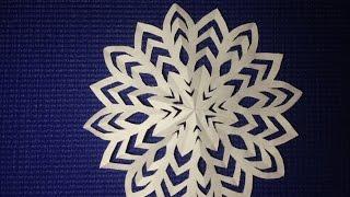 Легкий способ как сделать снежинку (Способ 2) - How to make a Snowflake easily