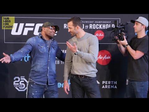 UFC 221: Luke Rockhold vs. Yoel Romero Intense Staredown!