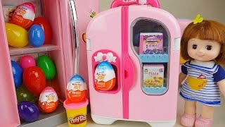Baby Doll Refrigerator and Kinder Joy Play Doh Surprise eggs