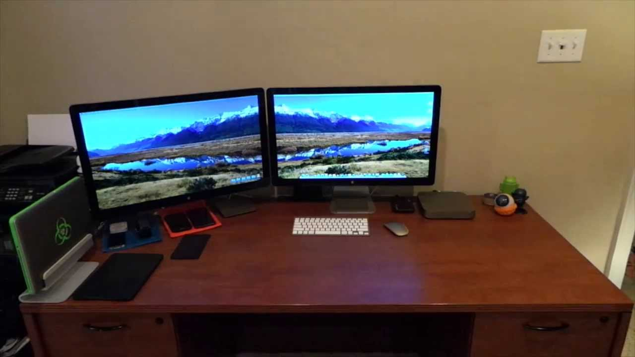 Desk Tour March 2014 Mac Mini With 2 Thunderbolt Displays