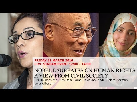 Nobel Laureates on Human Rights - A view from civil society