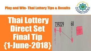 {1 June 2018} Thai Lottery Direct Set Final Tip [Latest]