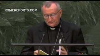 Cardinal Parolin to UN: International community must stop terrorist aggression