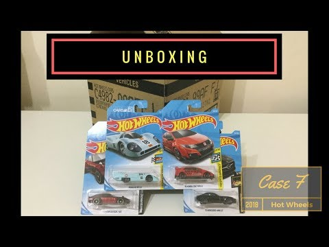 Unboxing - Hot Wheels Case F 2018 (Original Sealed)