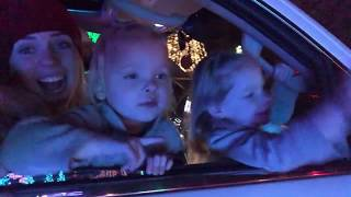 QUADRUPLETS GO SEE CHRISTMAS LIGHTS FOR THE FIRST TIME
