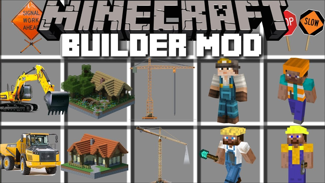 Minecraft BUILDER MOD / PLAY AND CONSTRUCT HUGE CITIES WITH ZOMBIES!! Minecraft