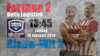 Fortuna/Delta Logistiek 2 - AKC Blauw-Wit 2   10-02-2019