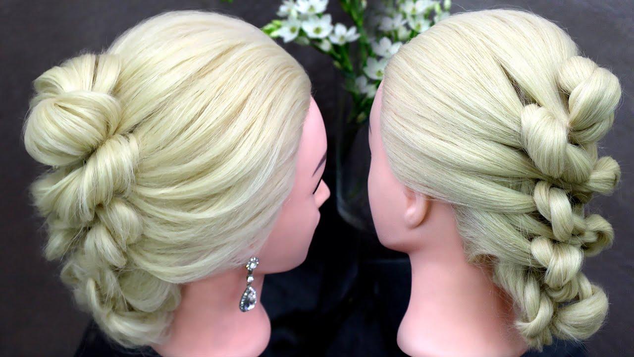 Узелки с волос на прическе